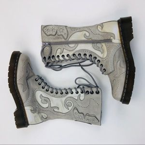 Rare Dr. Martens Adina Whimsical Butterfly Boots